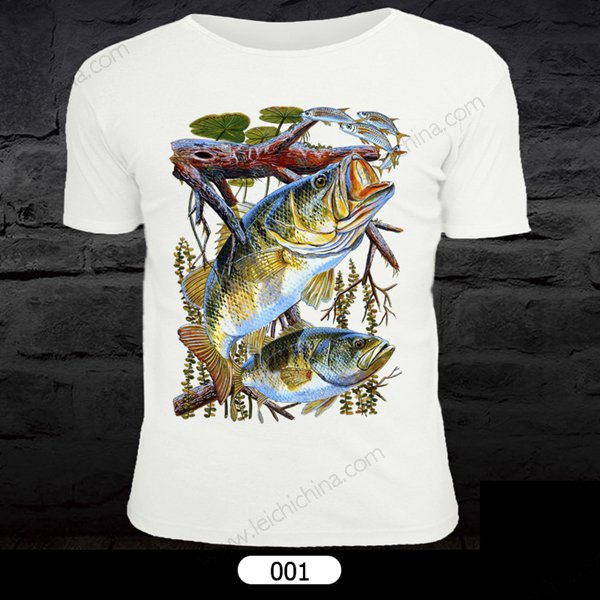 fish patten T-shirt
