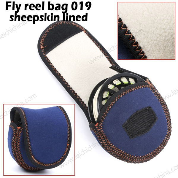 Fly reel bag 019 sheepskin lined