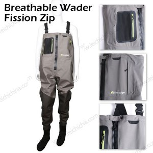 Breathable Fishing Waders Fission zip