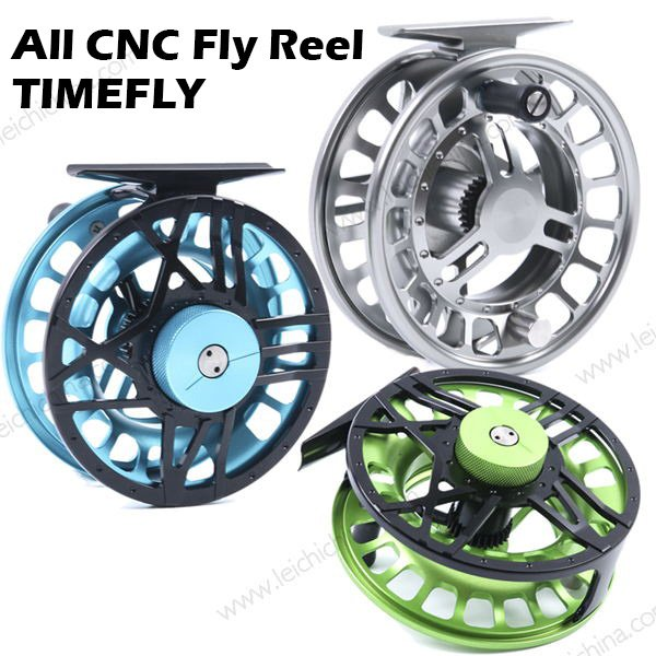 All CNC aluminum large arbor fly fishing reel TIMEFLY