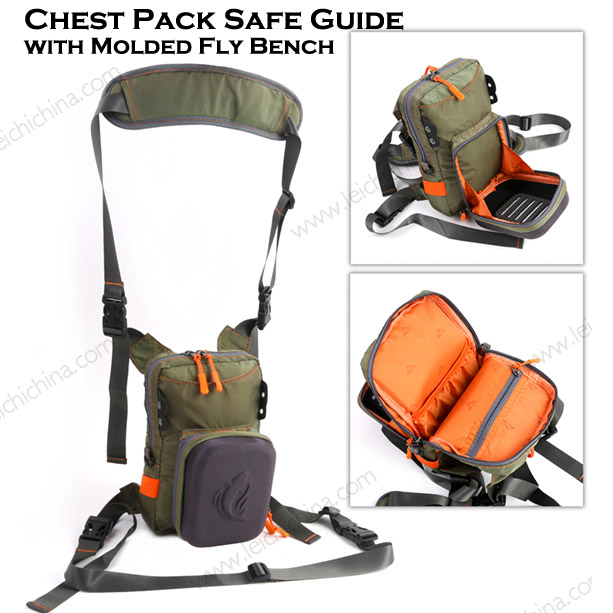 Chest Pack Safe Guide with Molded Fly Bench