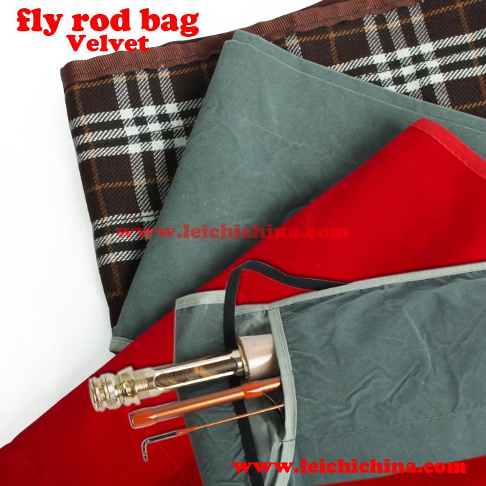 Velvet Cloth Fly Fishing Rod Sock Qingdao Leichi