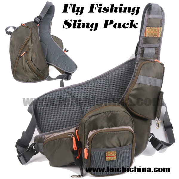 Fly fishing sling pack qingdao leichi industrial trade for Fly fishing sling pack